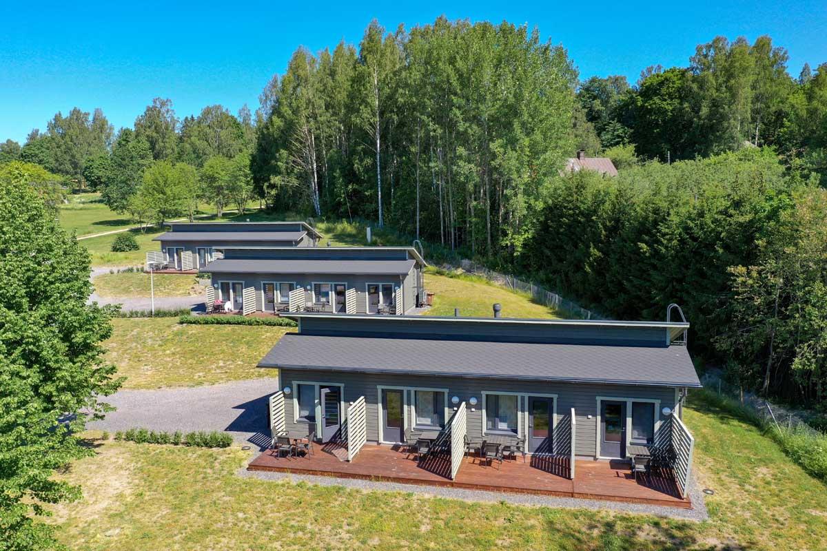 Lohja Spa&Resortin majoitusrakennukset moduulirakennus aluerakentaminen.