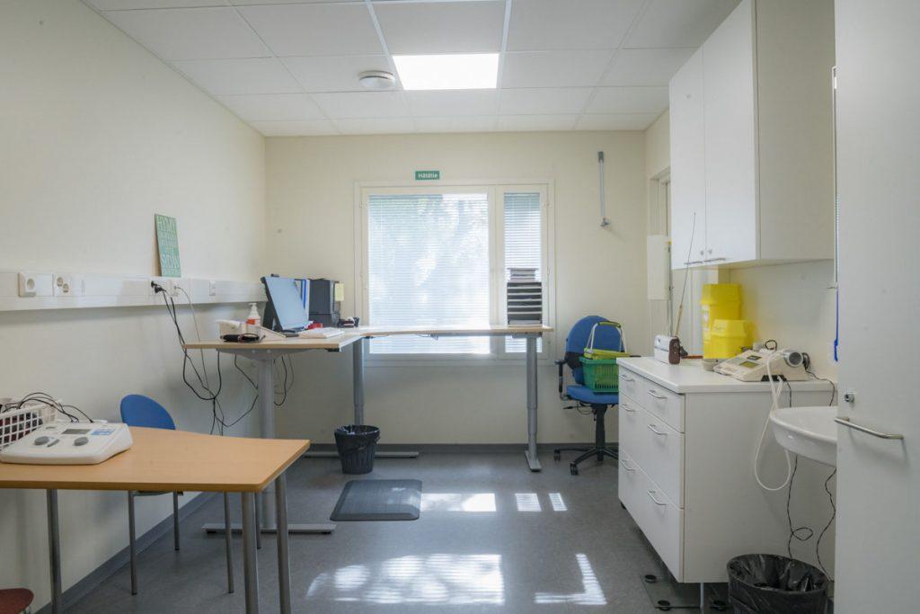 Terveysaseman väistötilan vastaanottohuone terveydenhuollon toimitilarakentaminen vastaanottohuone .
