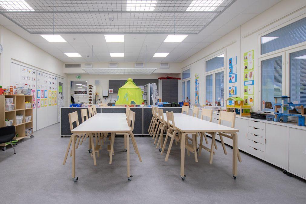 moduulikoulun luokkahuone koulurakentaminen moduulirakentaminen.