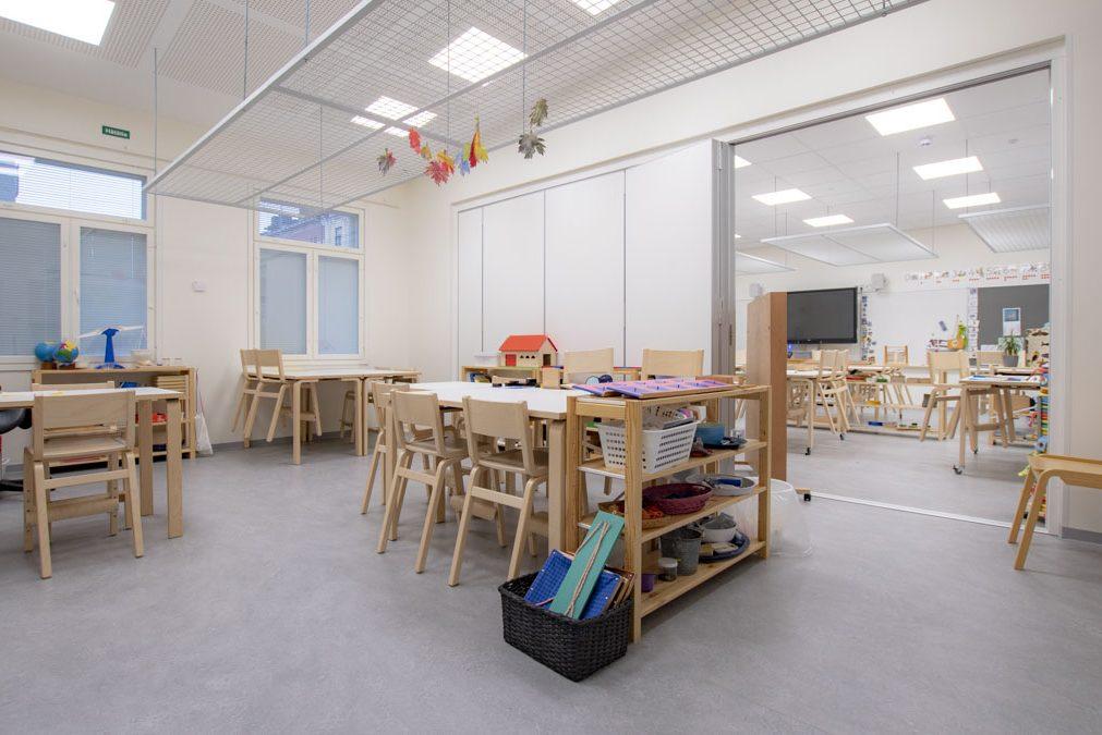 yhdistettävät luokkatilat moduulikoulu koulurakentaminen moduulirakentaminen.