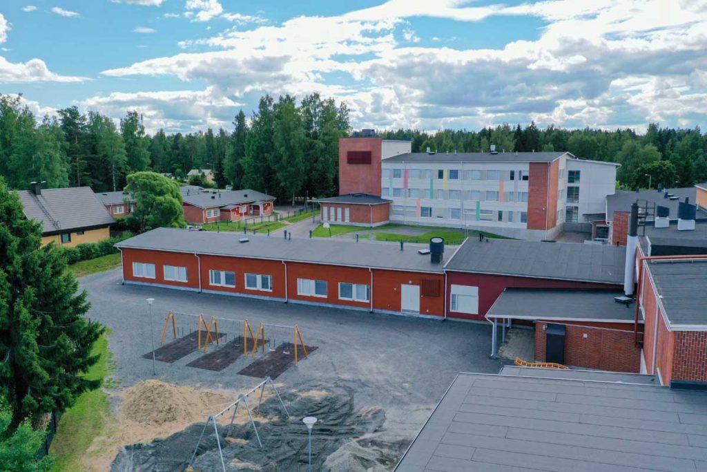 Moduulikoulu takaa koulurakentaminen julkinenrakentaminen.