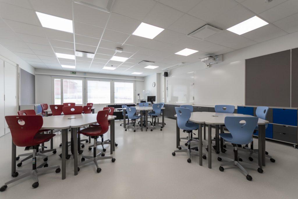 moduulikoulu opetustila koulun lisärakennus.