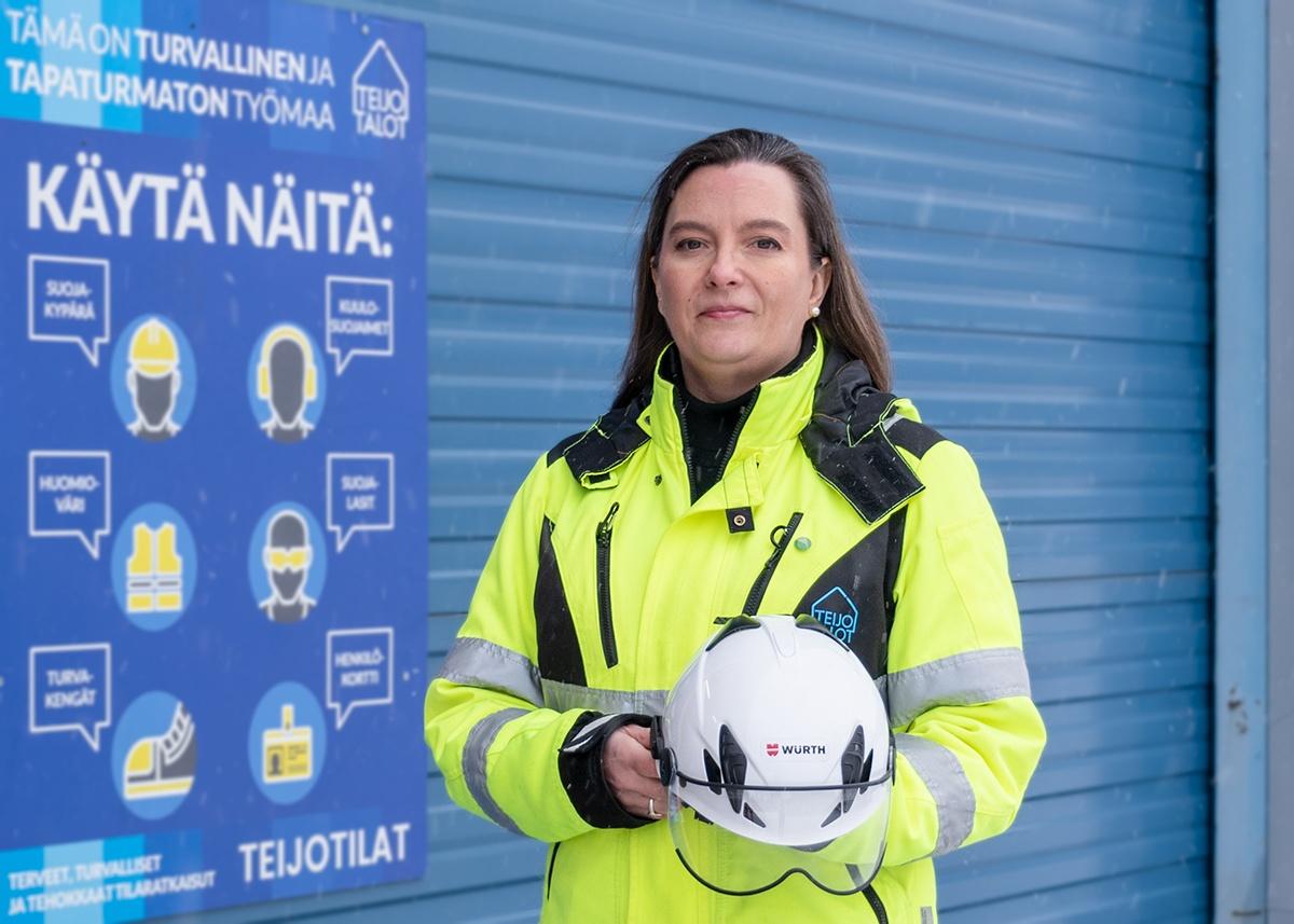 Teijo-Talojen laatupäällikkö Heidi Karlsson